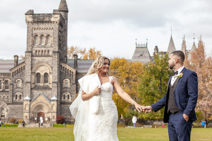 Wedding photography University of Toronto St. George Campus